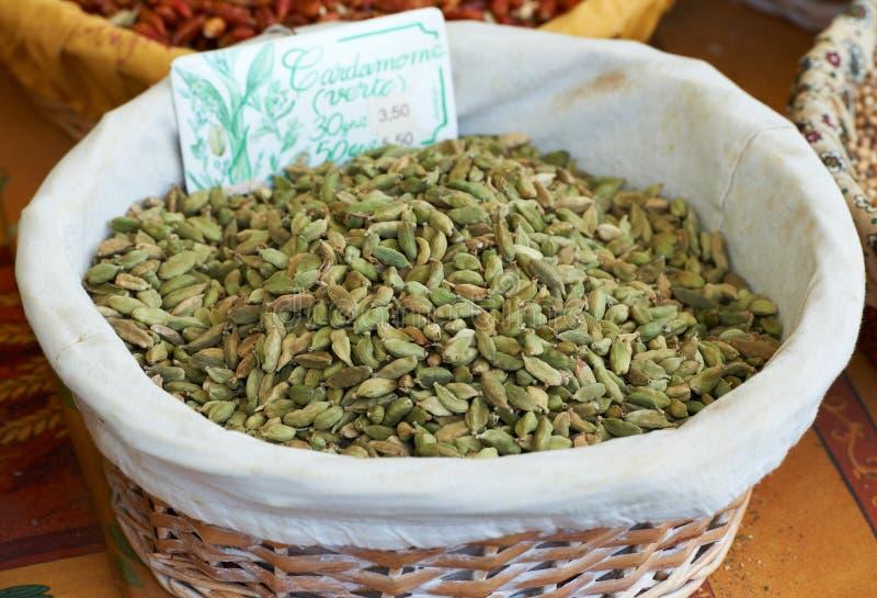 豆蔻果实绿色香料 库存图片