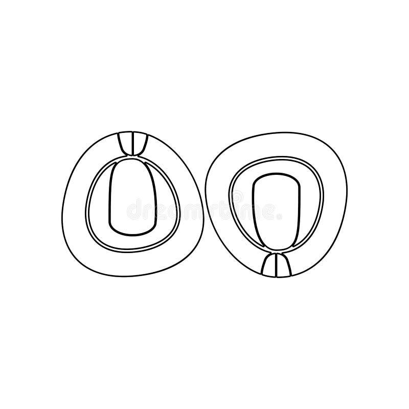 豌豆象 坚果的元素流动概念和网应用程序象的 概述、稀薄的线象网站设计的和发展,应用程序 库存例证