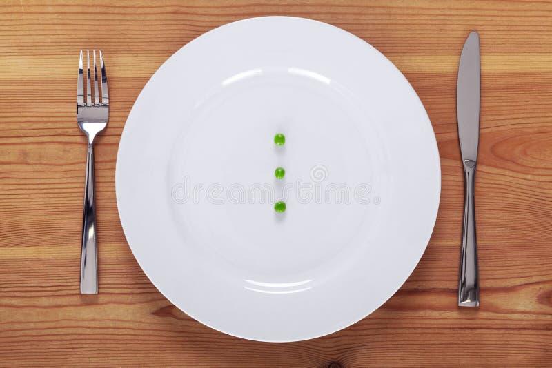 豌豆镀白色 免版税库存图片
