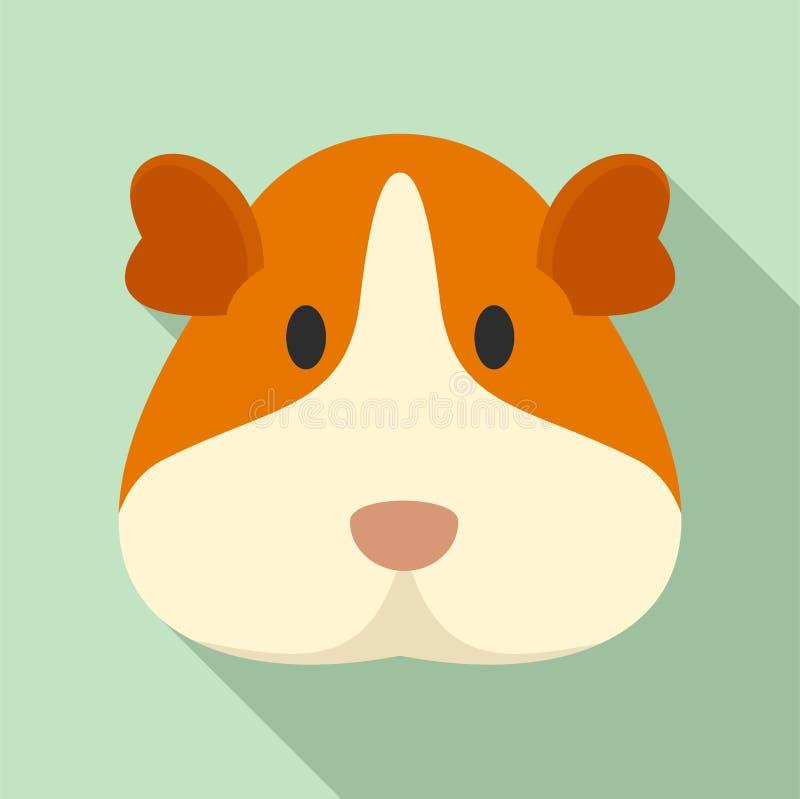 豚鼠面孔象,平的样式 皇族释放例证