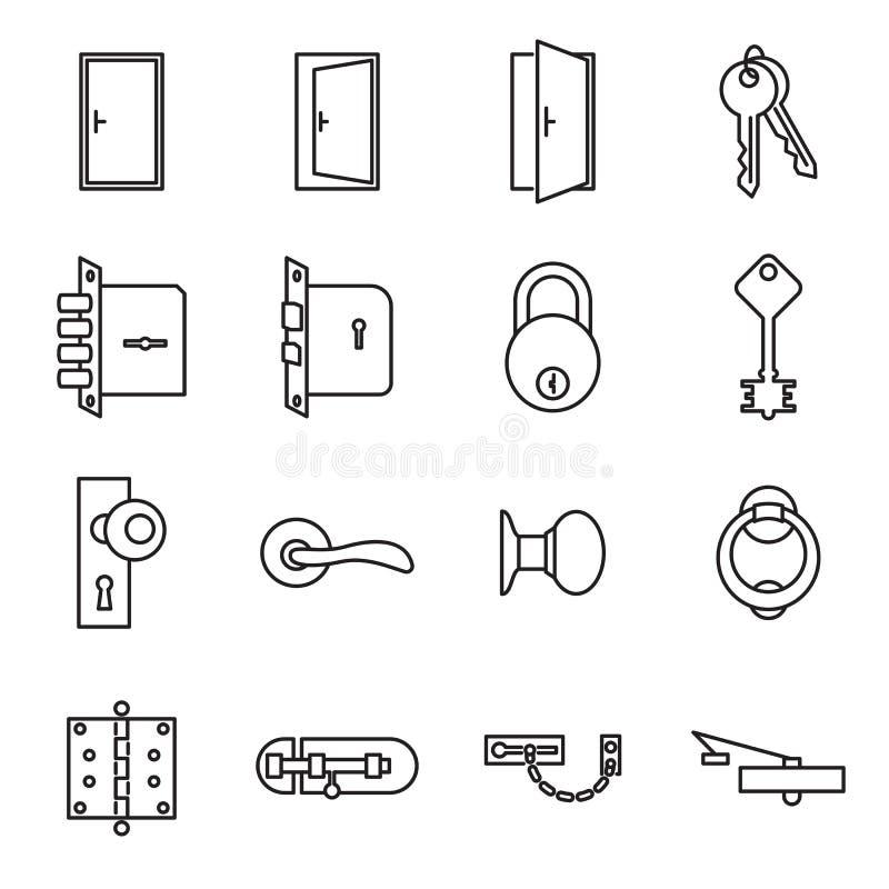 象与门和锁有关 库存例证