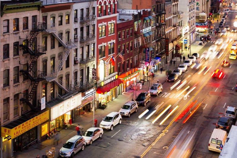 象亭子的街道场面在纽约 库存照片