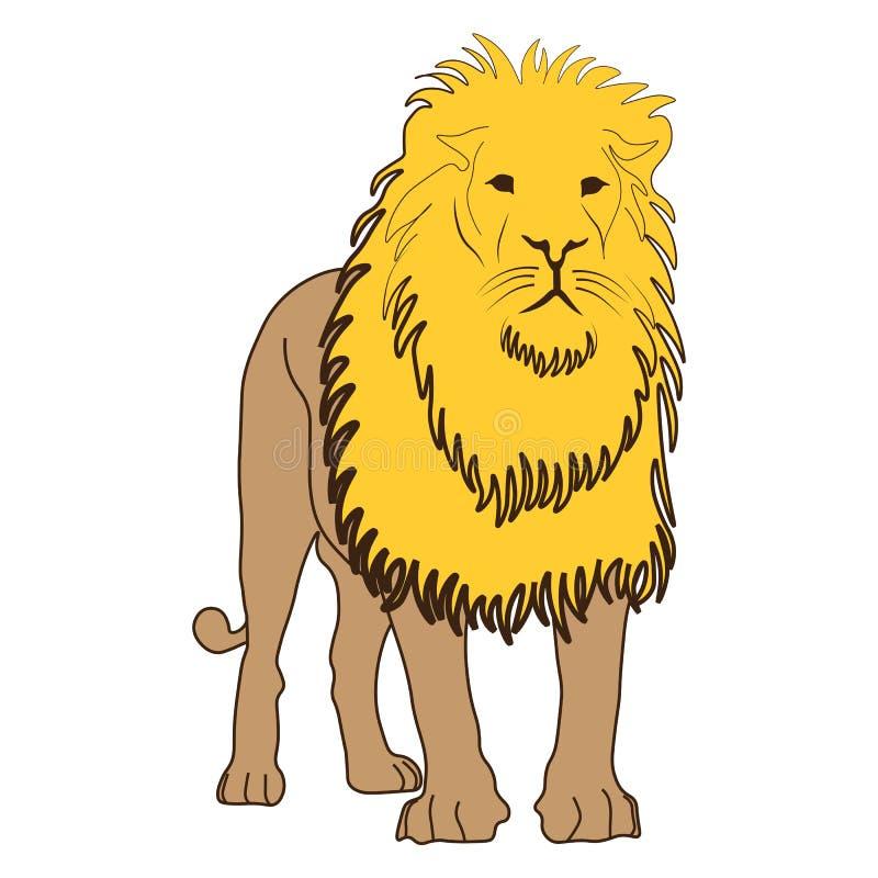 象动画片设计例证动物狮子 皇族释放例证