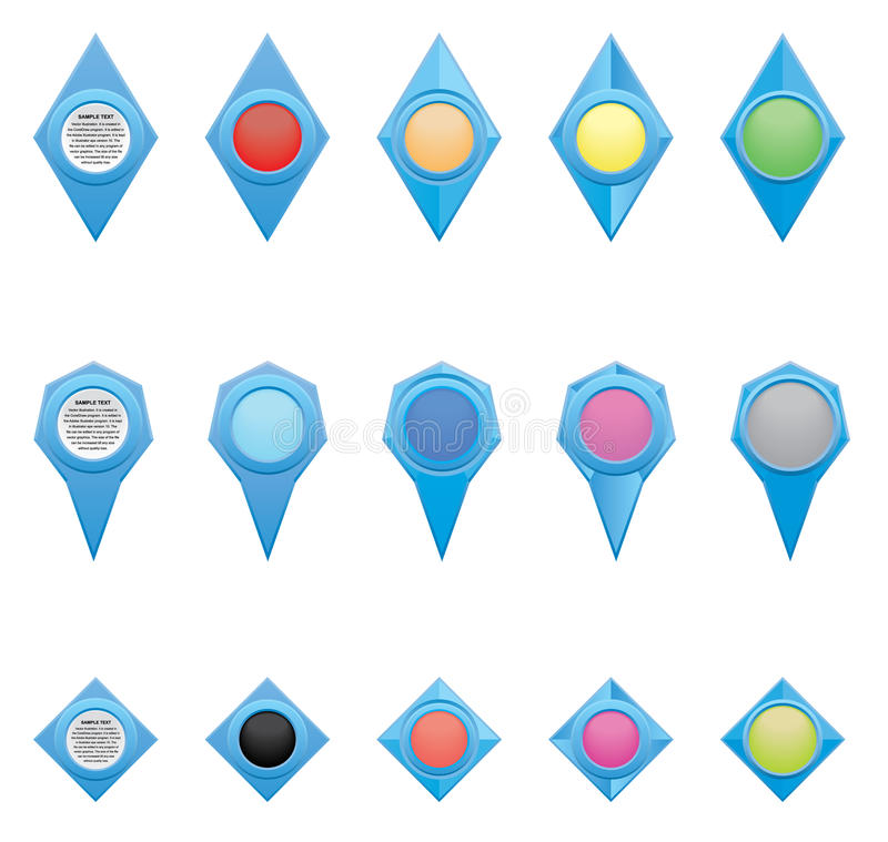 Download 象和尖 向量例证. 插画 包括有 按钮, 映射, 广告, 圈子, 消息, 指针, 框架, 距离, 著名, 营销 - 62532161