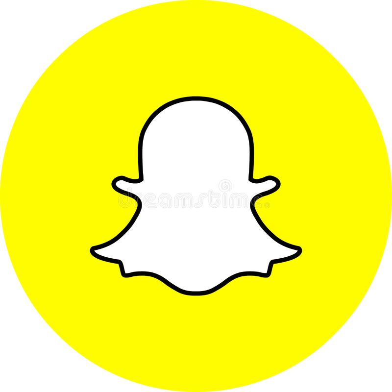 象商标snapchat传染媒介颜色 皇族释放例证