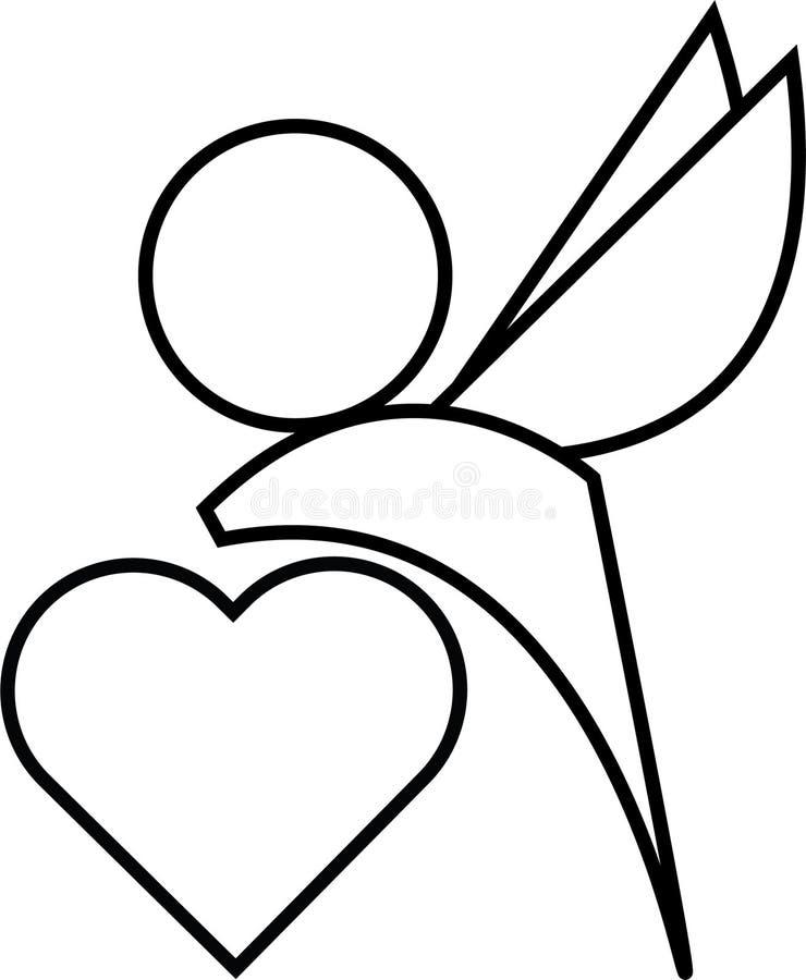 象在例证的丘比特心脏图片