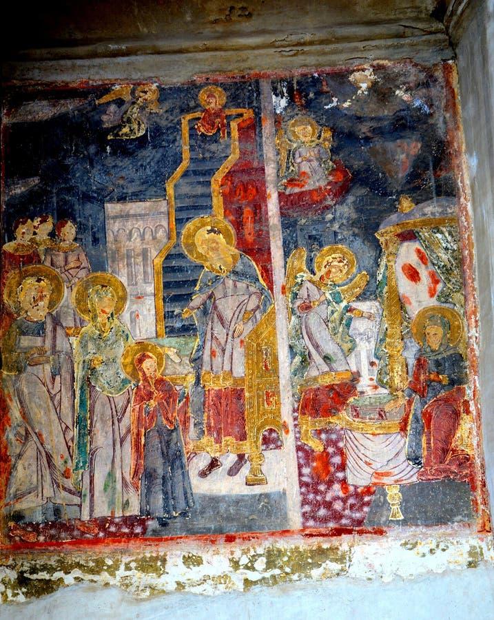 象在教会圣尼古拉斯里在Schei (镇布拉索夫),特兰西瓦尼亚 免版税库存图片