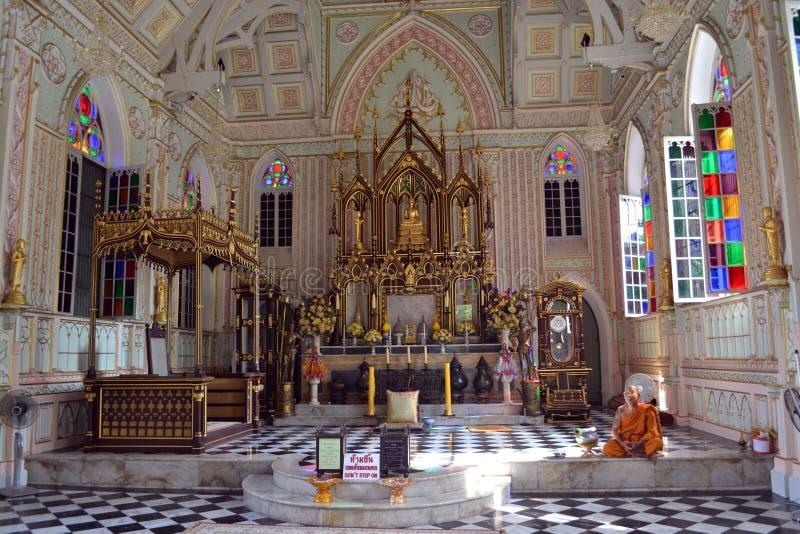象大教堂的佛教寺庙 免版税库存照片
