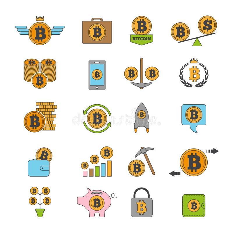 象套隐藏事务 Bitcoin和其他从blockchain技术的alt硬币 库存例证