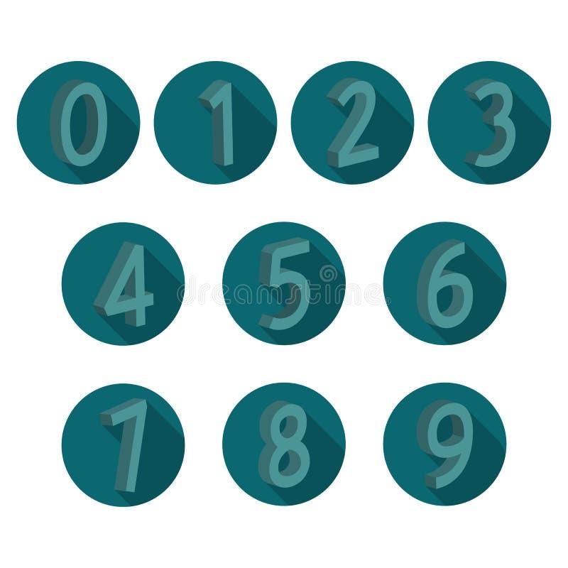 象容量数字,传染媒介例证 库存例证