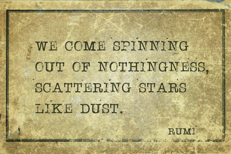 象尘土Rumi的星 免版税库存照片
