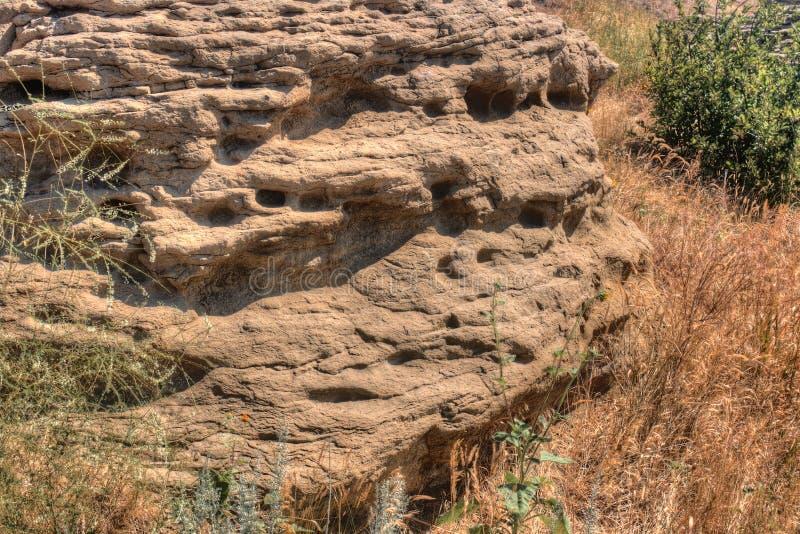 象形文字国家公园在布告外面,蒙大拿在夏天 免版税库存图片