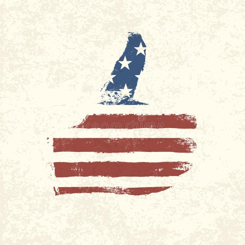 象形状的美国国旗。 向量例证