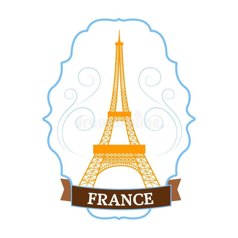 象征元素,网和流动应用国家法国集合标签模板您的产品或设计的与文本 向量例证