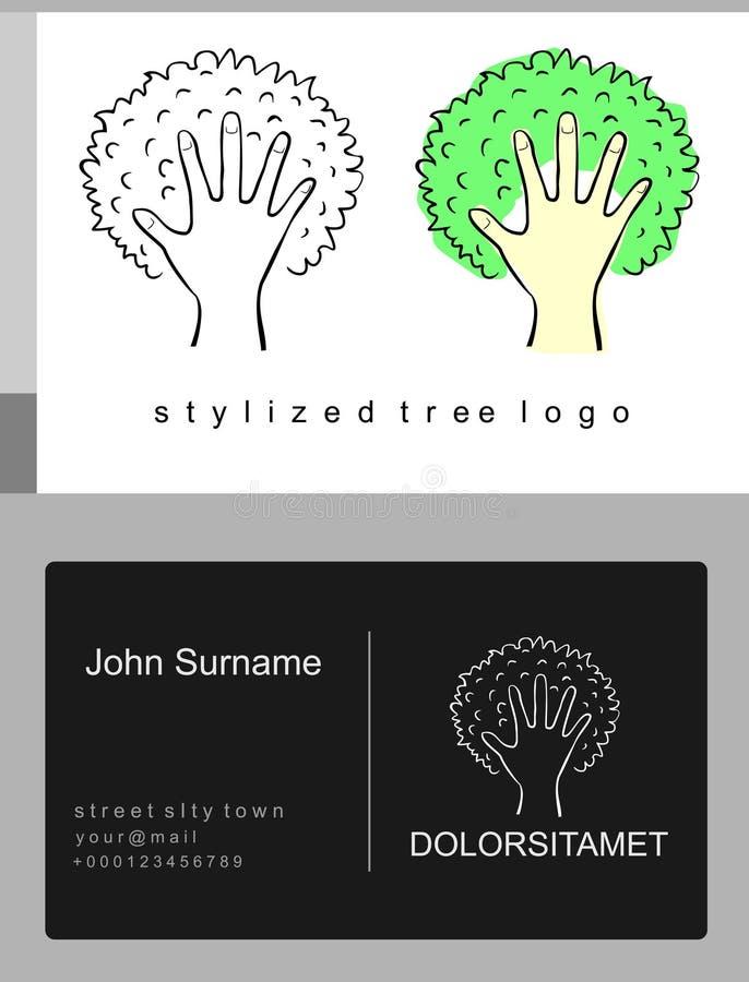 象征动画片树和棕榈 皇族释放例证