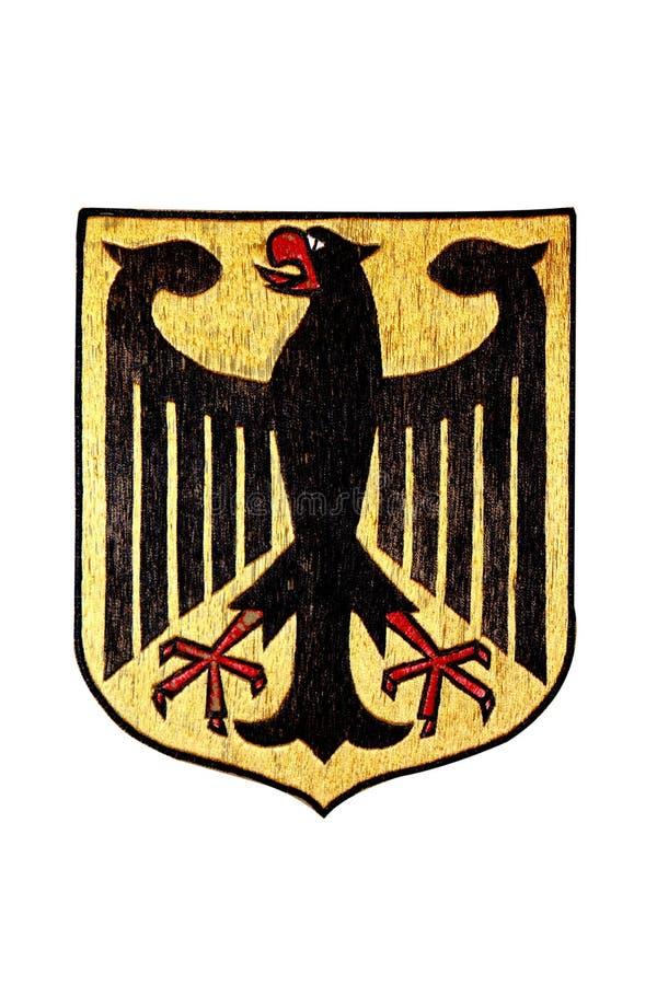 象征德国查出的国家白色 库存例证