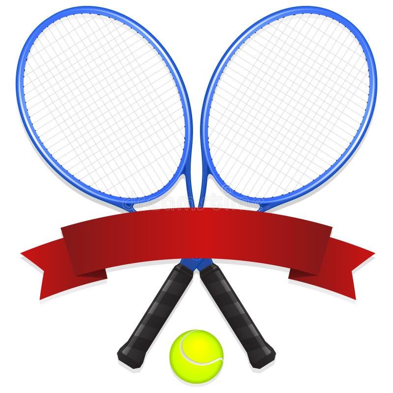 象征网球 向量例证