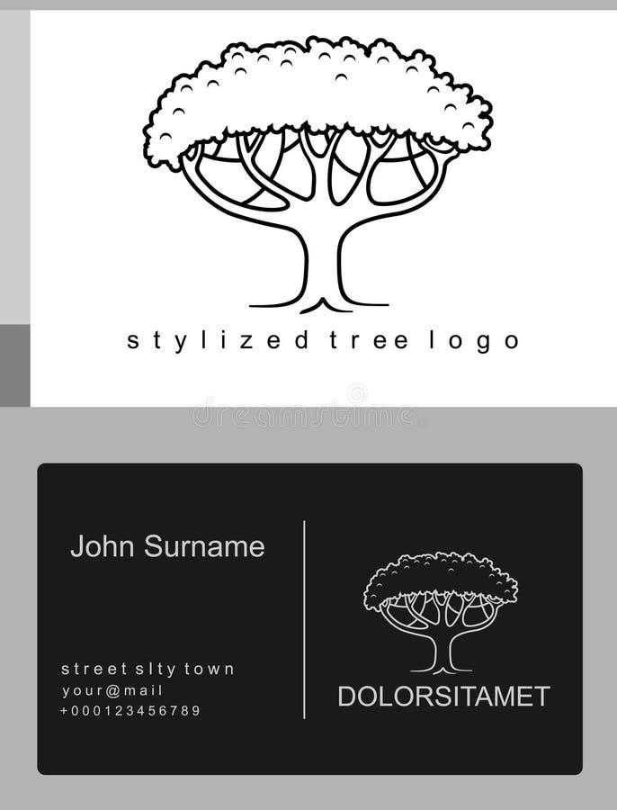 象征被绘的树 向量例证