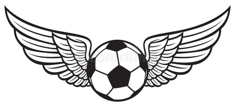 象征足球 库存例证