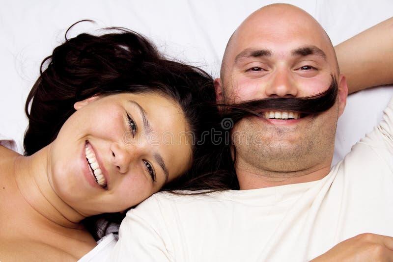 画象愉快的夫妇 库存照片