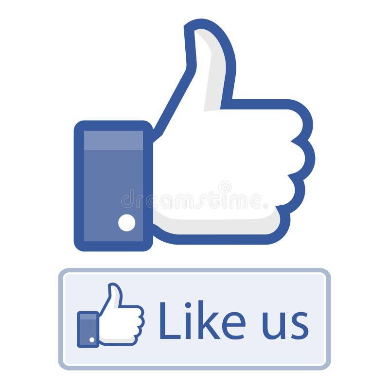 象我们在facebook赞许 皇族释放例证