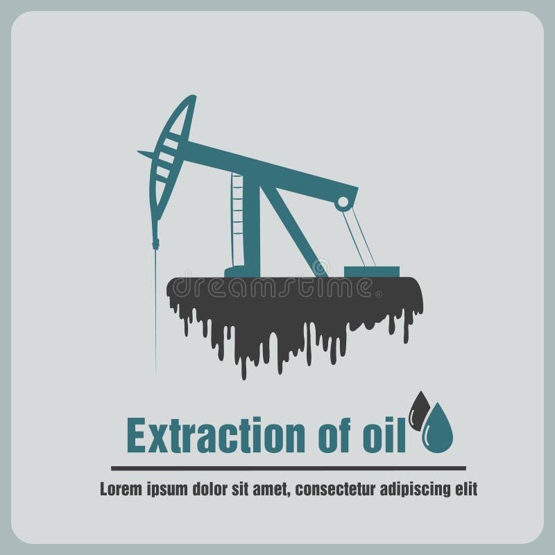 象抽油装置 皇族释放例证