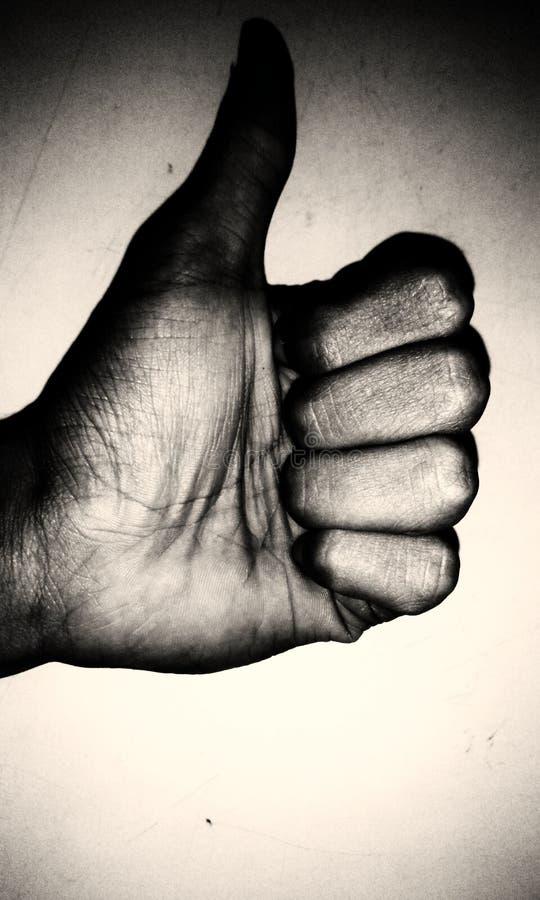 象拇指, black&白色 库存照片