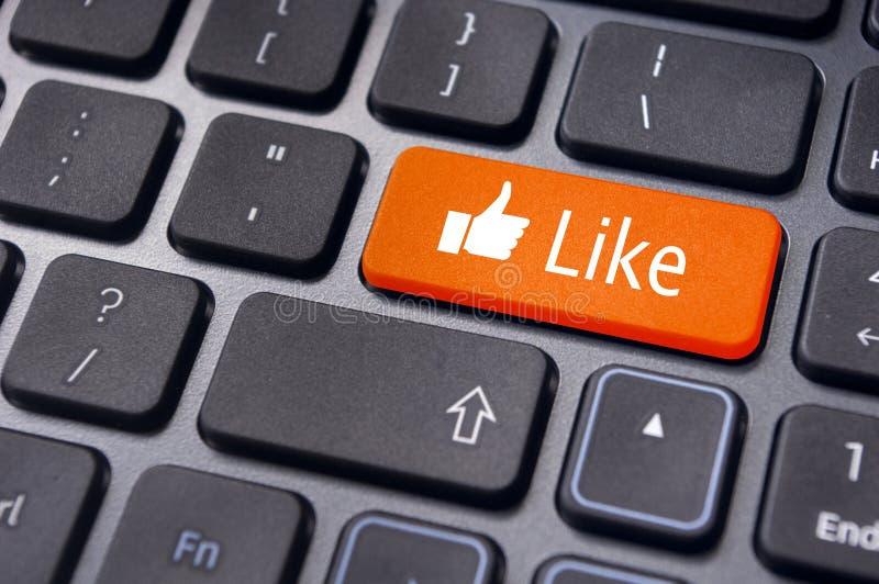 象按钮,社会媒体概念 免版税库存照片