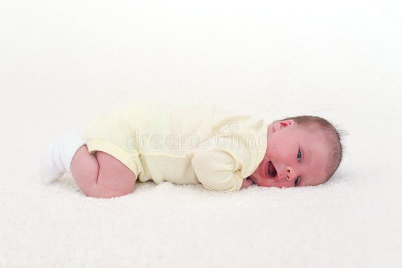 画象新出生的女婴(2个星期) 库存照片