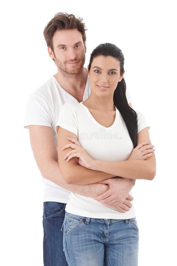 画象有吸引力年轻夫妇微笑 库存图片