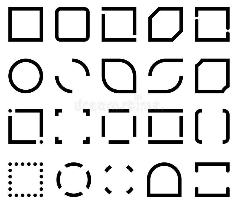 象框架的模板 向量例证