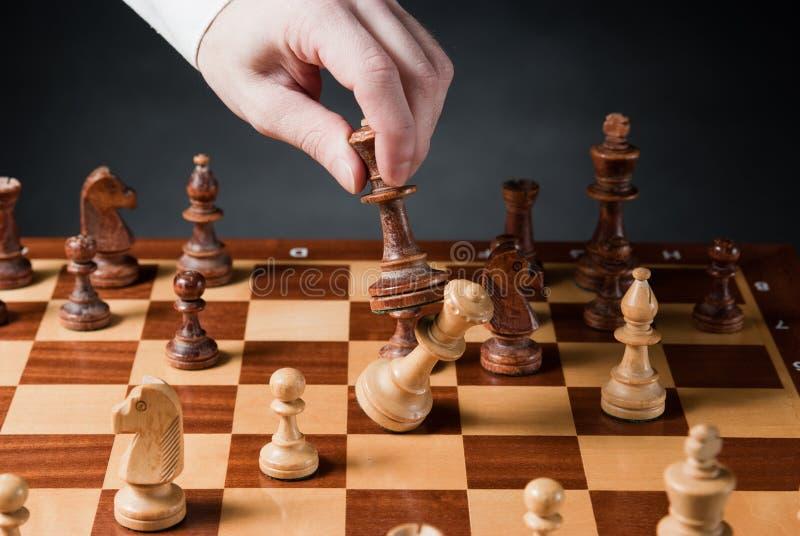 象棋移动 免版税图库摄影