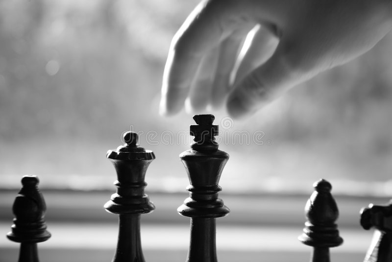 象棋移动 免版税库存照片