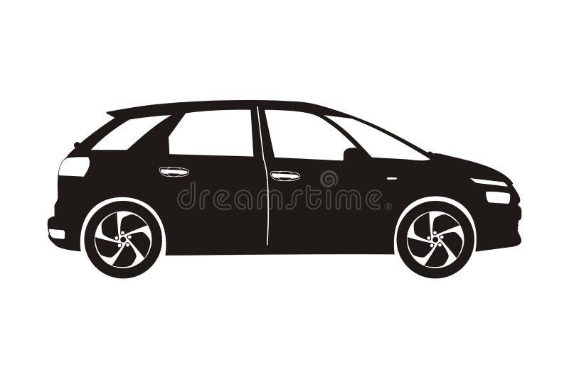 象汽车斜背式的汽车 向量例证
