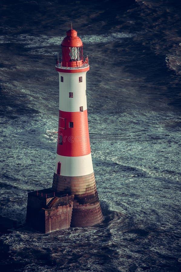 象海滨顶头灯塔 免版税库存照片