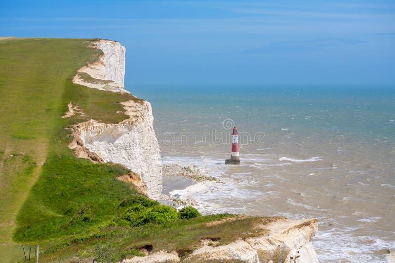 象海滨题头 东萨塞克斯郡,英国,英国 免版税库存照片