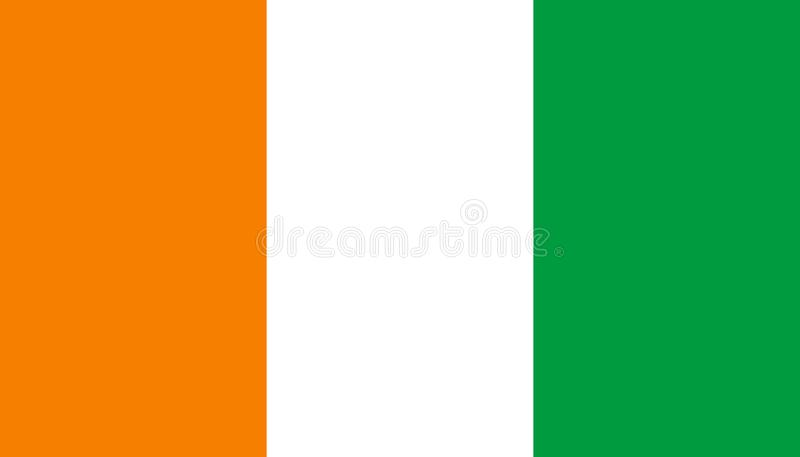 象牙海岸在平的样式的旗子象 科特迪瓦全国标志传染媒介例证 r 库存例证
