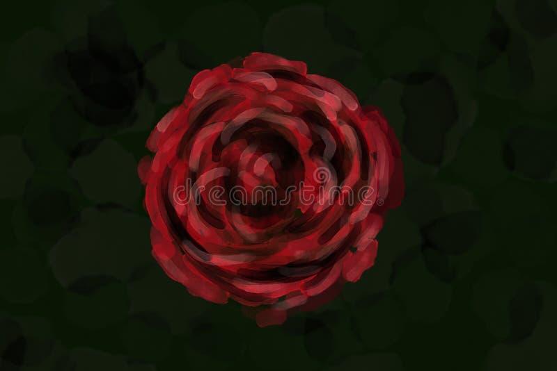 象玫瑰色例证的水彩 库存例证