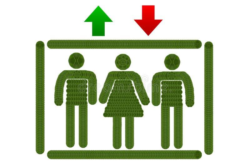 象电梯 向量例证