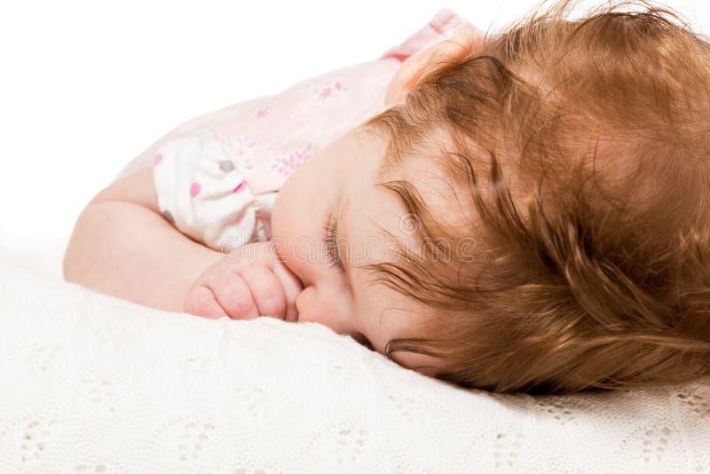 画象睡觉的婴孩 免版税图库摄影
