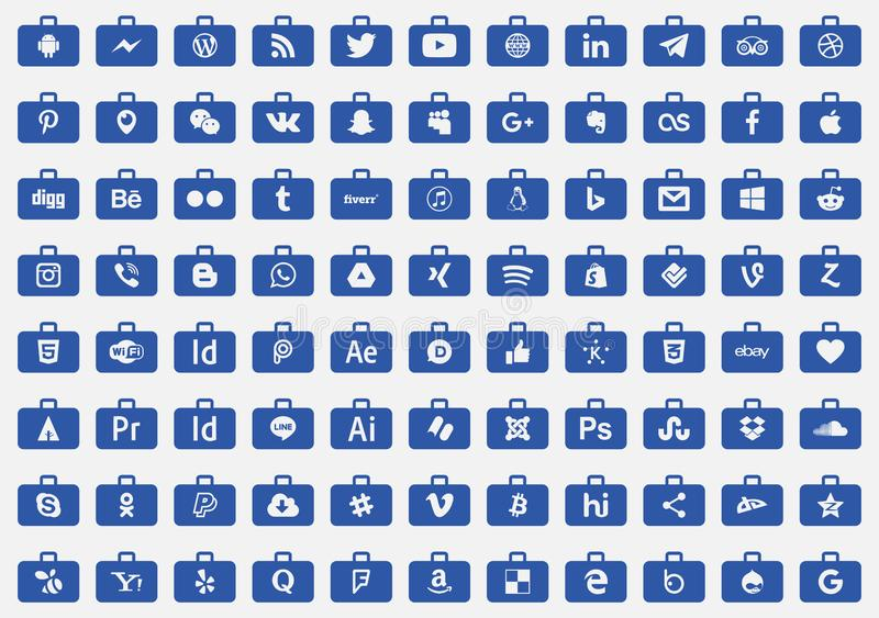 象社会媒介系列vecto 向量例证