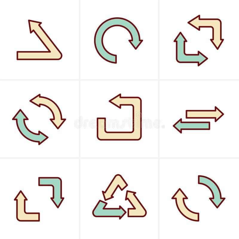 象称呼简单,平的设计回收标志 向量例证