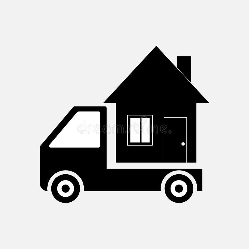 象移动的家,运输 库存例证