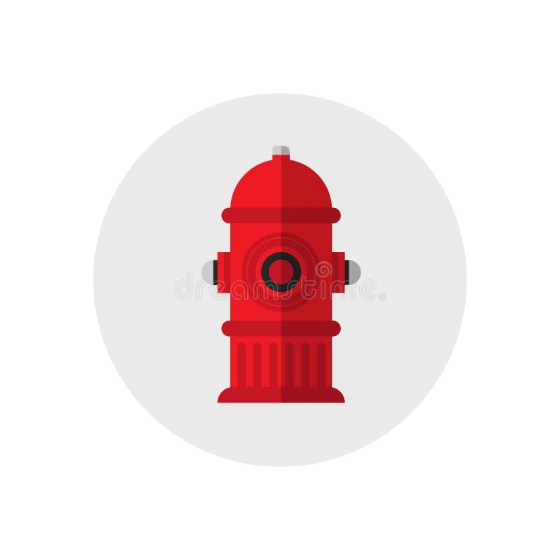 象红火消防栓 唯一剪影火设备象 也corel凹道例证向量 平的样式 库存例证