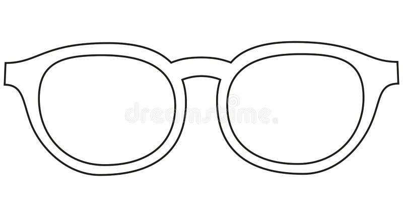 象线艺术海报人父亲爸爸天玻璃,眼镜 皇族释放例证