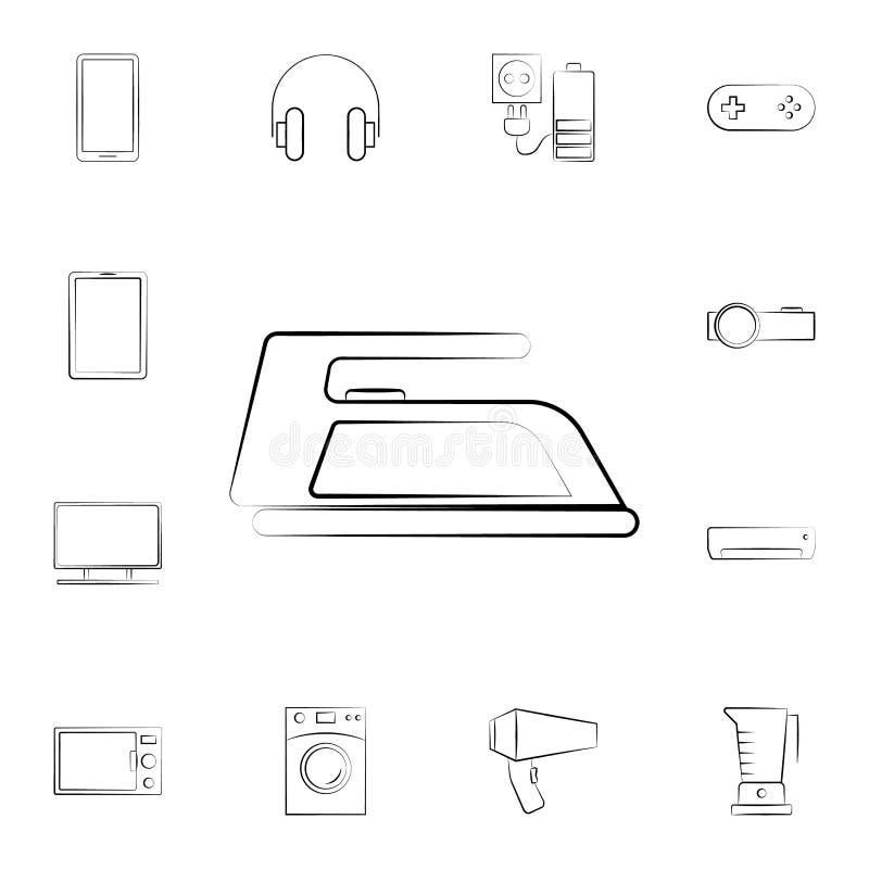 象能图标使用的铁徽标 详细的套家电 优质图形设计 其中一个网站的汇集象,网络设计,机动性a 皇族释放例证