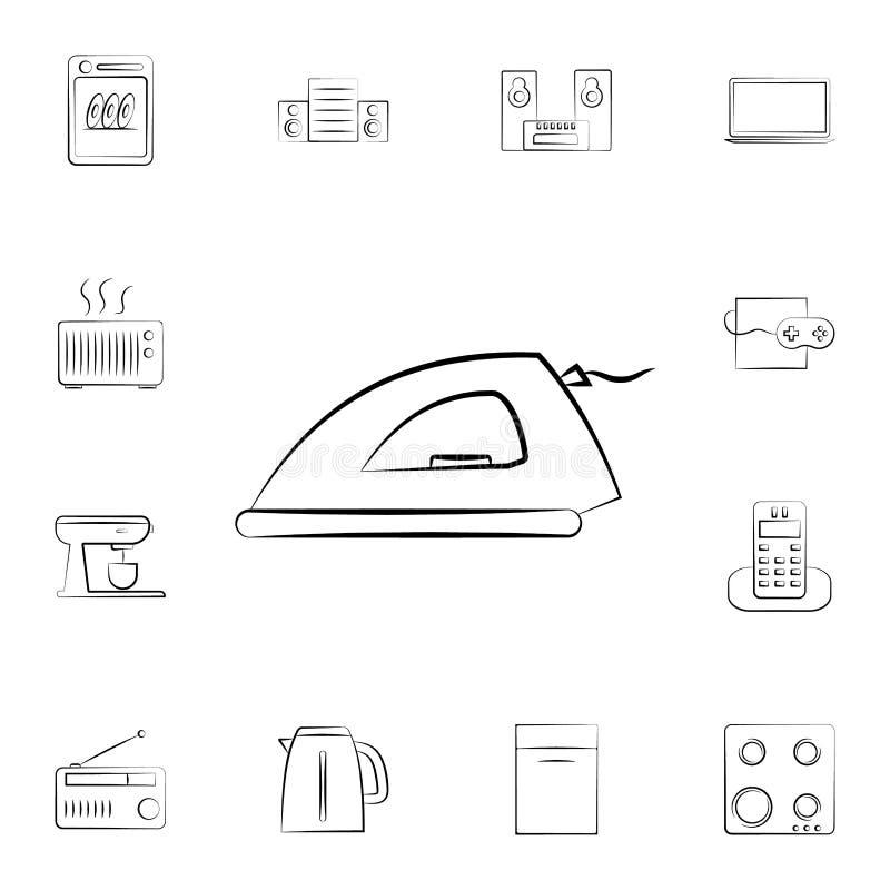 象能图标使用的铁徽标 详细的套家电 优质图形设计 其中一个网站的汇集象,网络设计,机动性a 向量例证