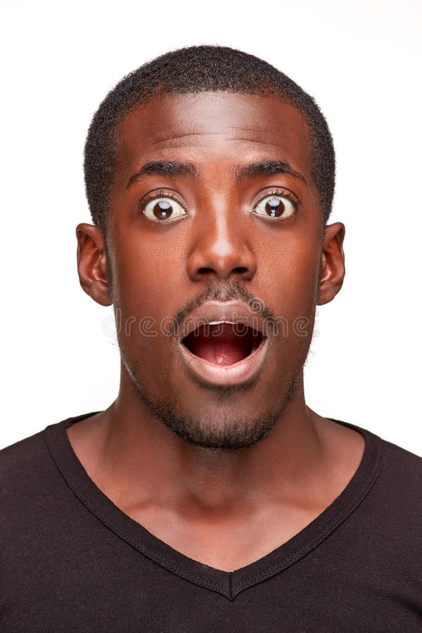画象英俊年轻非洲黑人微笑 免版税库存照片