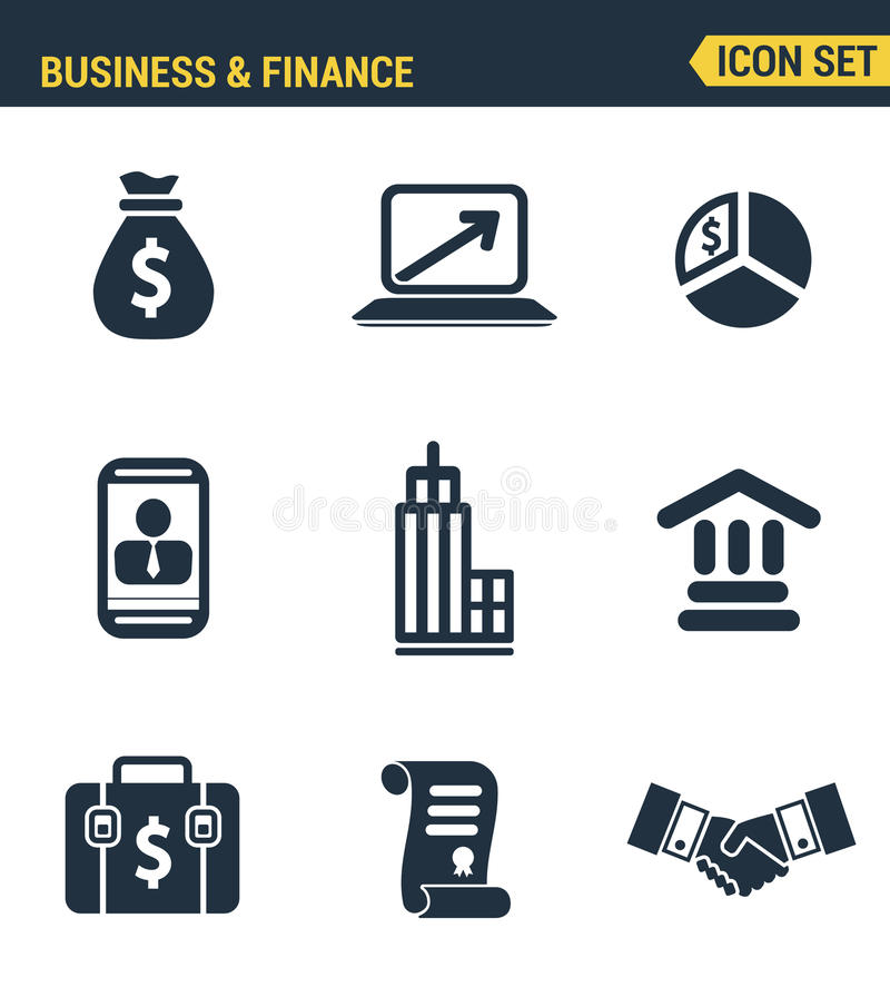 象设置了企业经济发展的优质质量 库存例证