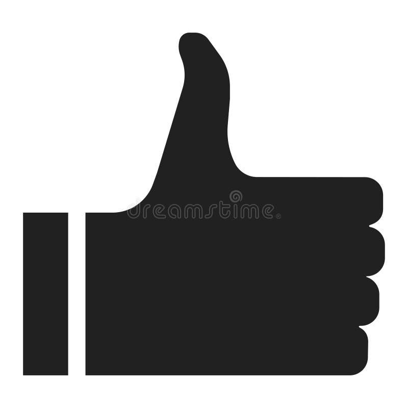 象象,社会网络网站享用或批准 库存例证